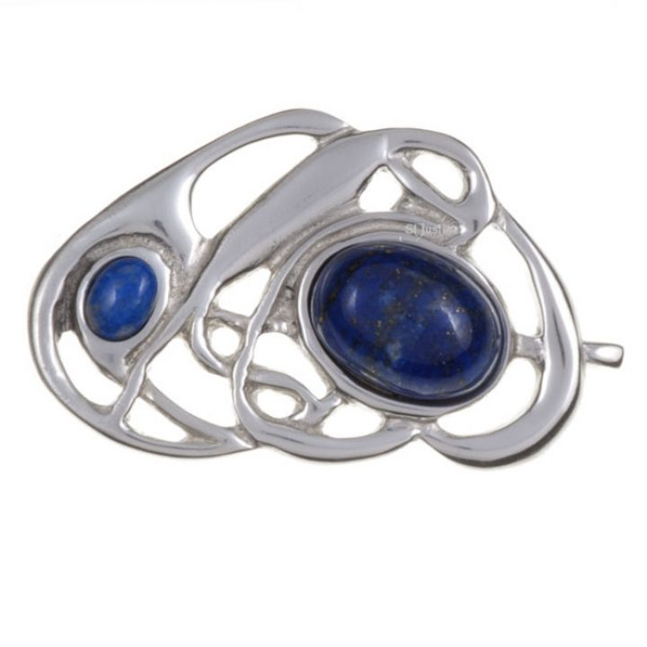 Celtic nouveau brooch with lapis SJ-PB58L
