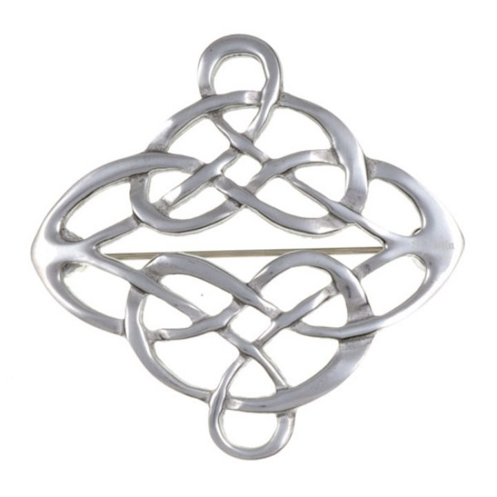 Linked knot brooch SJ-PB335