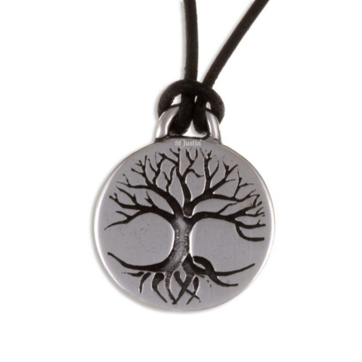 Tree of Life disc pendant with leather thong SJ-PN841