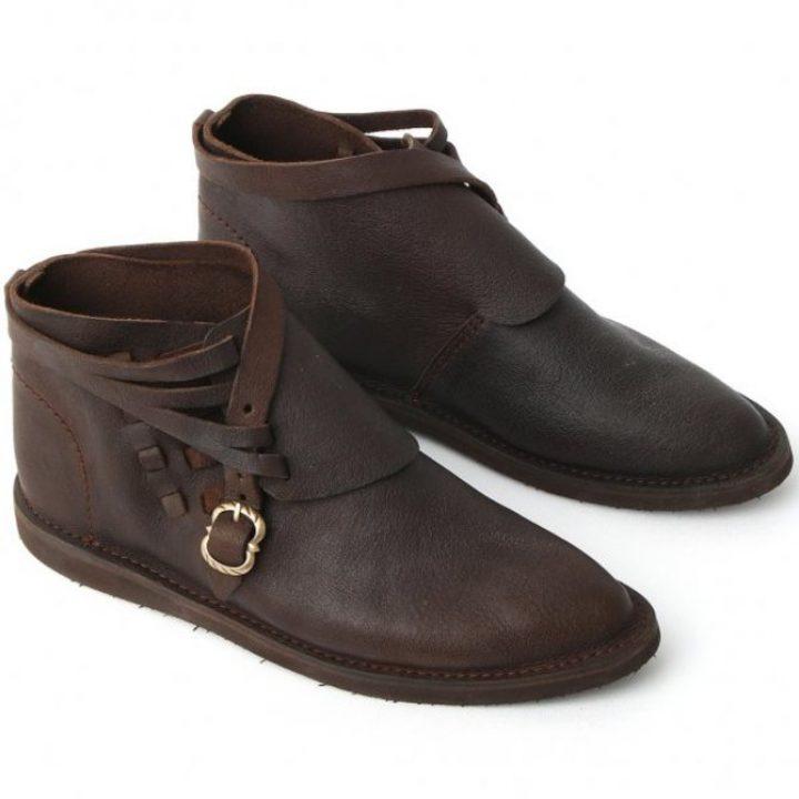 Middeleeuwse Soldaten schoenen 14e eeuws