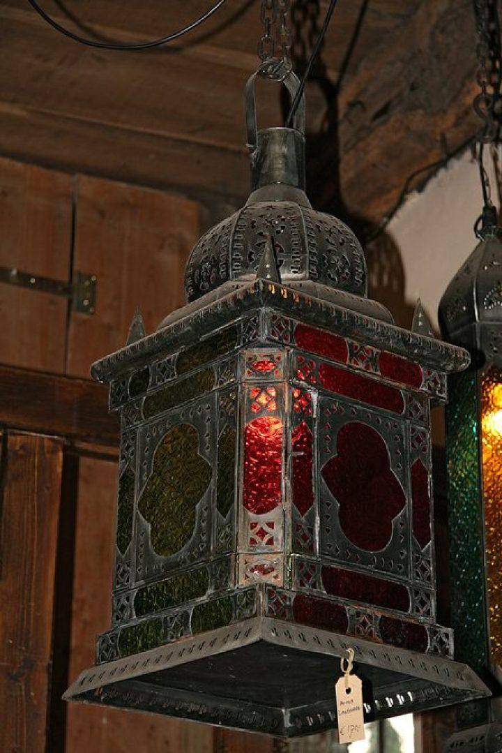 Hanglamp oosters gekleurd
