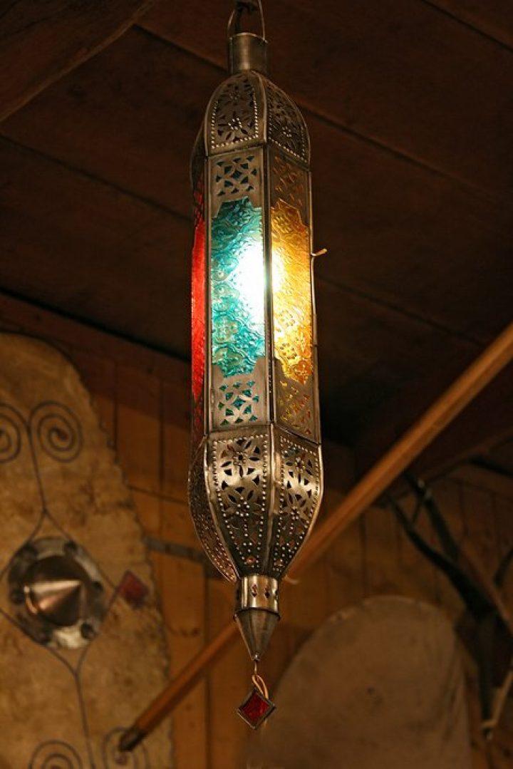 Hanglamp Oosters gekleurd lang