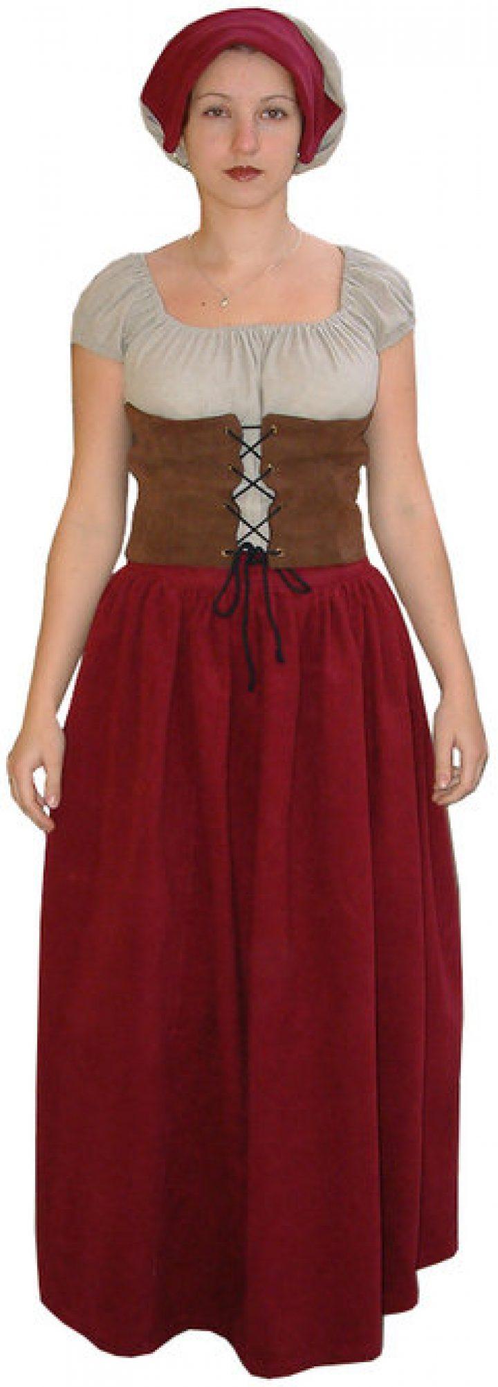 Middeleeuwse Waardin - Gastvrouw Kostuum