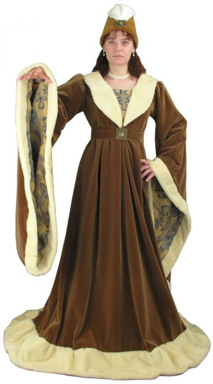 Middeleeuwse Bourgondische Jurk 1480