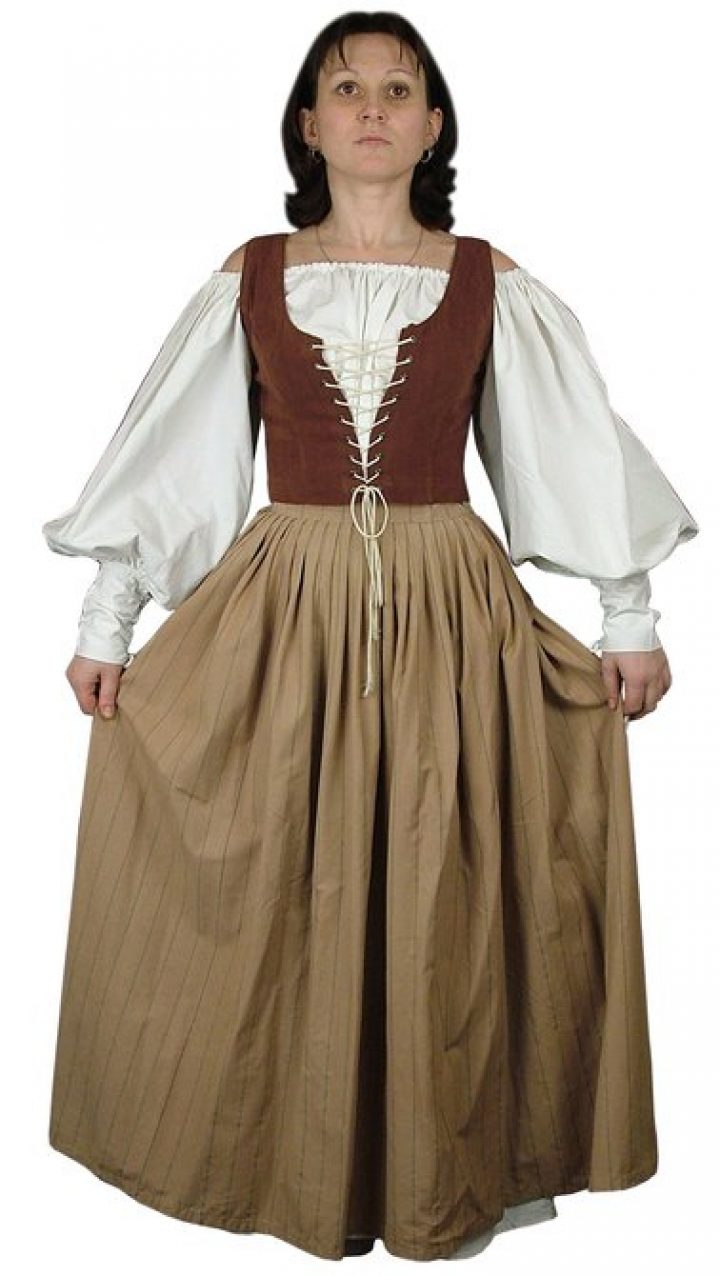 Middeleeuws Marktvrouw Kostuum