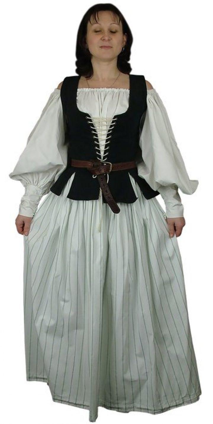 Middeleeuwse Barok Marktvrouw Kostuum
