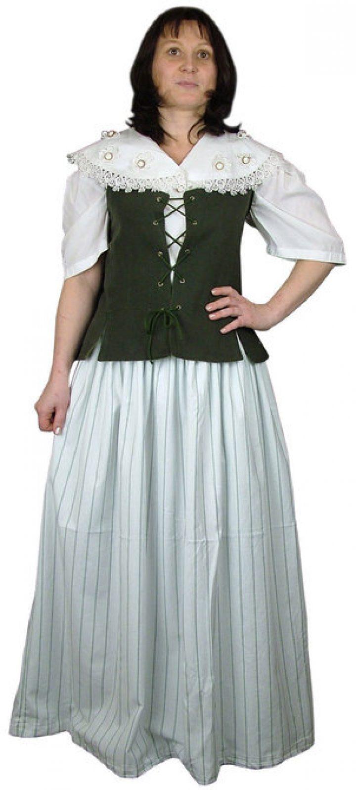 Middeleeuwse Barok Dienstmeid Kostuum