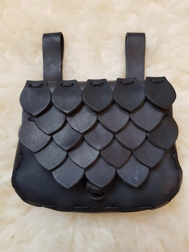 Middeleeuwse tas in Zwart