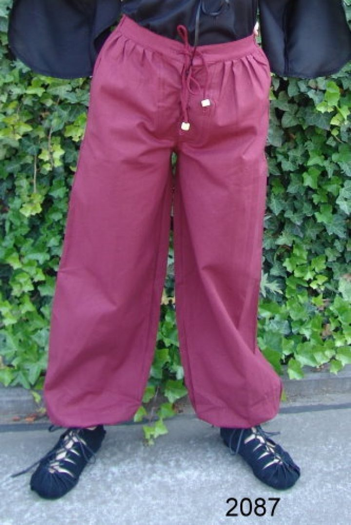 Mittelalter Hose Baumwolle Rot