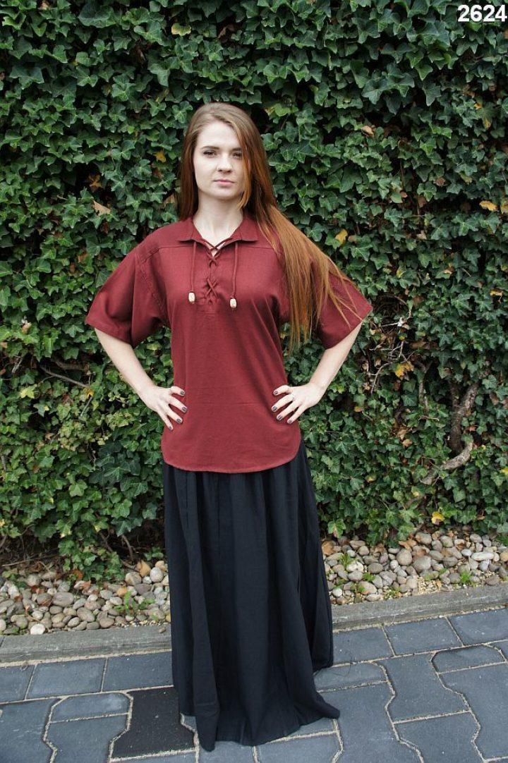 Middeleeuwse Blouse Rood