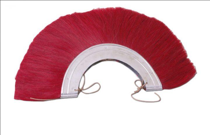 Roman metal plume, Crista, red