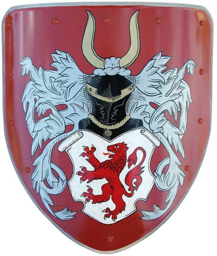 Middeleeuws Wapenschild - Handbeschilderd - deko