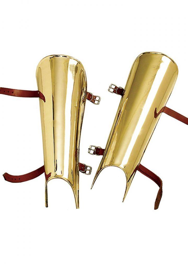Roman Beinschienen, Paar, Messing