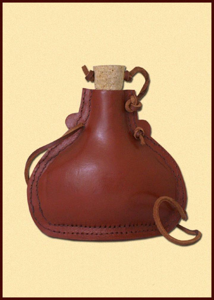 Middeleeuwse Drinkfles Leder
