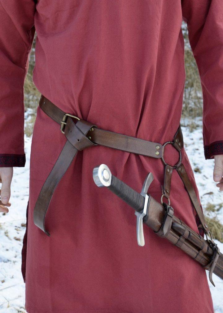 Mittelalter Schwertgurtel aus braunem Leder