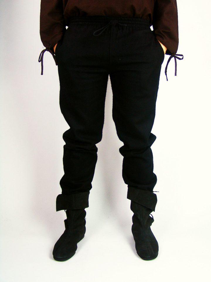 Middeleeuwse Wollen Broek Zwart
