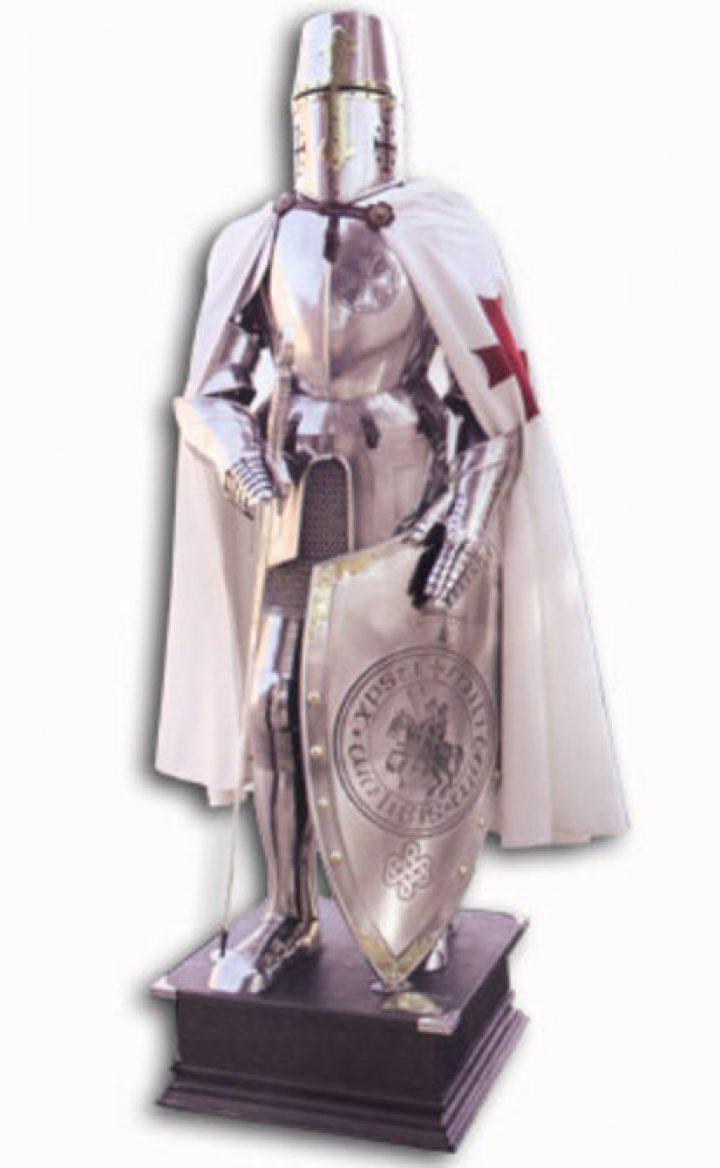 Mittelalterliche Rustung der Templar