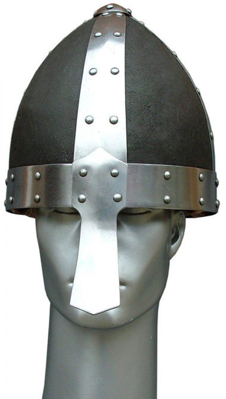 Noorman helm met leder