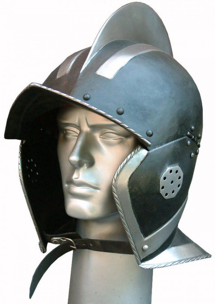 Burgonet helm Gezwart