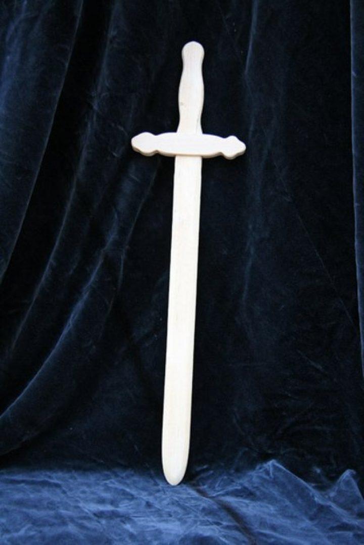 Kinder kort zwaard van hout