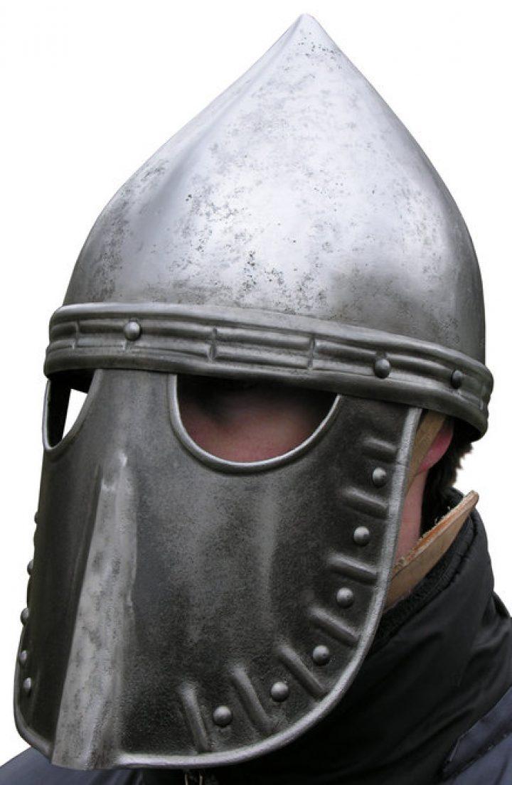 Normandisch Gezichtsmasker Helm rond 1170