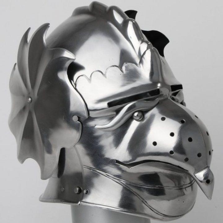 Helm mit Groteskgesicht 1515-1535