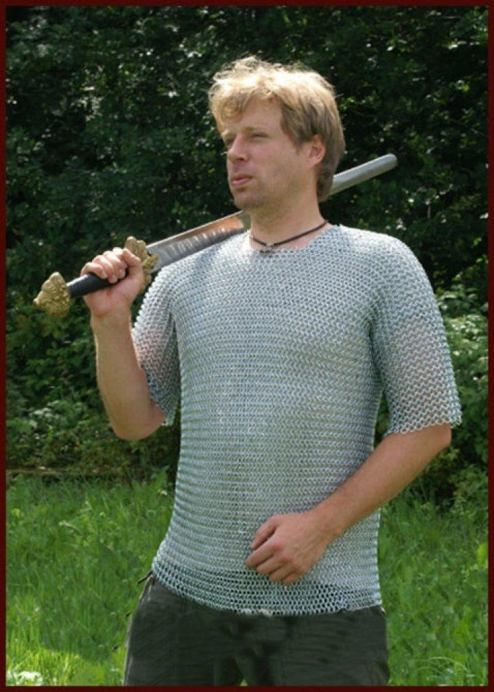 Kettenhemd, kurzarm, verzinkt, Gr. XL