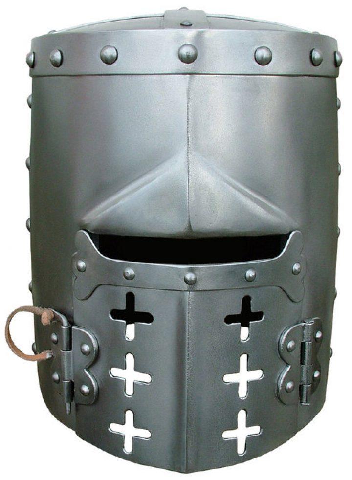 Kruisvaarders Pothelm met open klapbaar Vizier