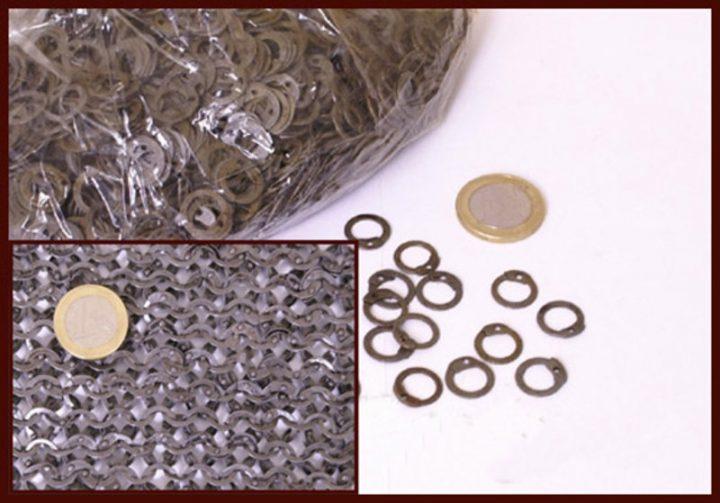 1kg Malien Ronde Platte Ringen Onbehandeld, geklonken, 8 mm, 1.8 mm dik