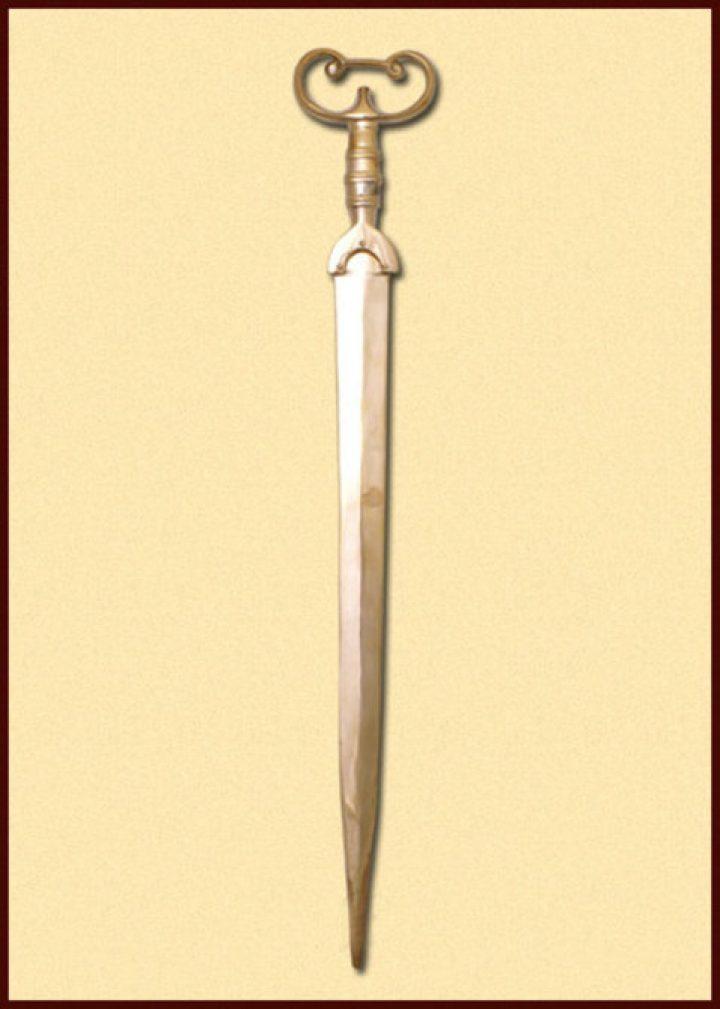 Antennen zwaard van Brons