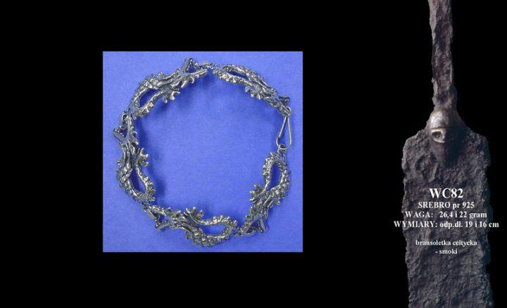 Celtic bracelet with dragons WC082