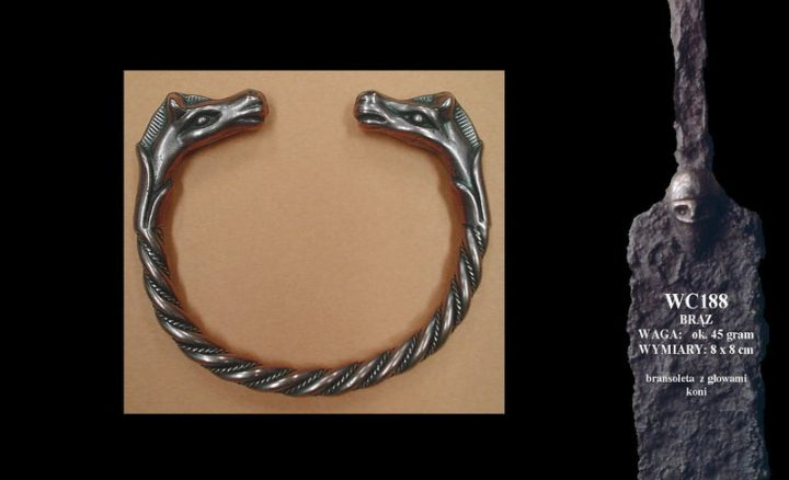 Bracelet with horses' heads WC188B