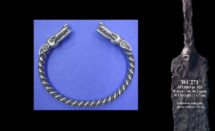 Baltic bracelet with wolves' heads, 9th c. WC271