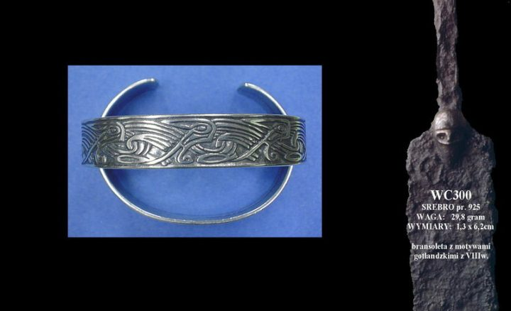 Viking bracelet with motives from Gotland WC300
