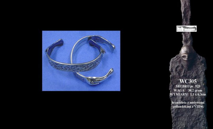 Bracelet with motives from Gotland WC305