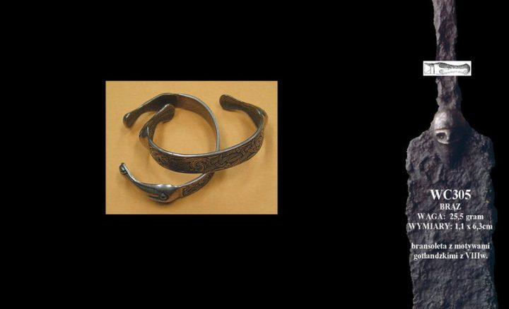 Bracelet with motives from Gotland WC305B