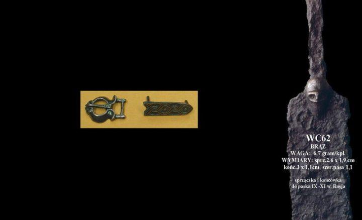 Viking Riemgesp met beslagplaat brons, Rusland, 9-11e eeuws