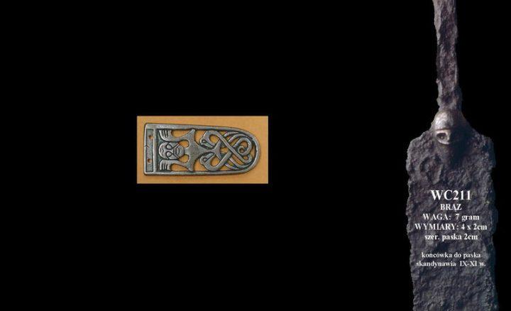 Viking Riemtong Eindstuk Brons, Scandinavia, 9 - 11e eeuws