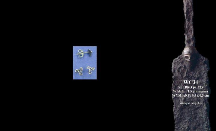 Celtic earrings WC034