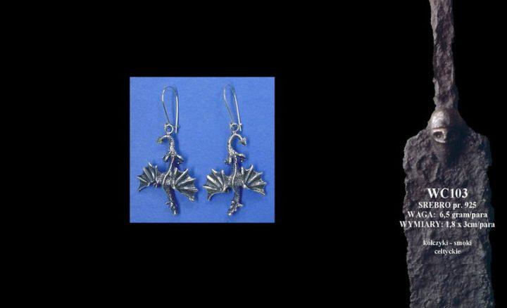 Earrings-dragons WC103