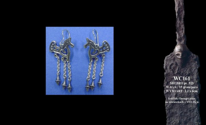Finougrian earrings, 8th-9th c. WC161
