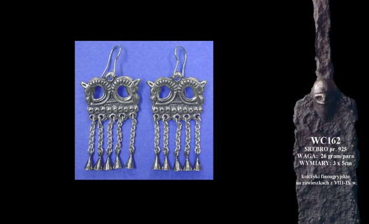 Finougrian earrings with horses, 8th-9th c. WC162