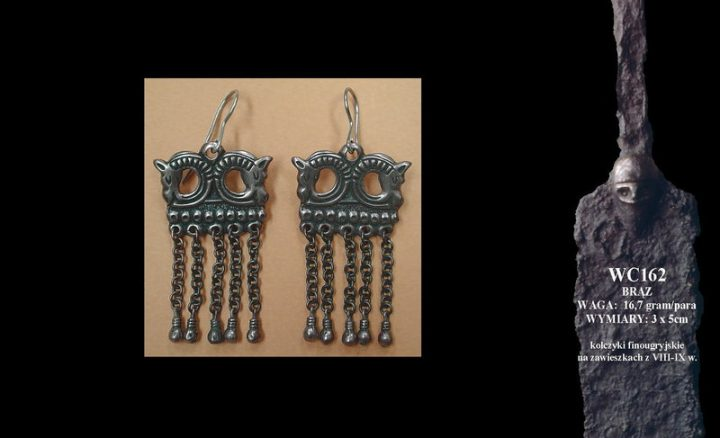 Finougrian earrings with horses, 8th-9th c. WC162B