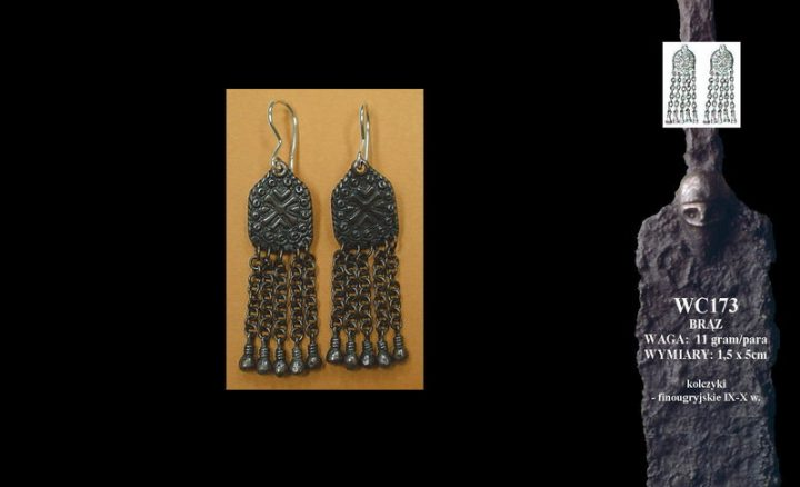 Finougrian earrings, 9th-10th c. WC173B