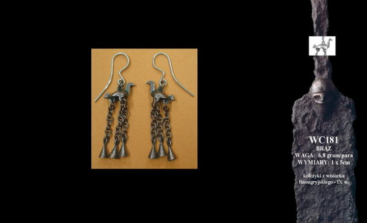Finougrian earrings-birds, 9th c. WC181B