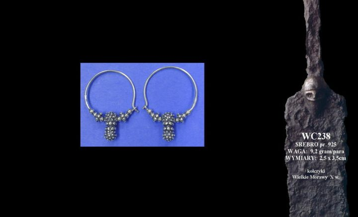 Earrings, Great Moravia, 10th c. WC238