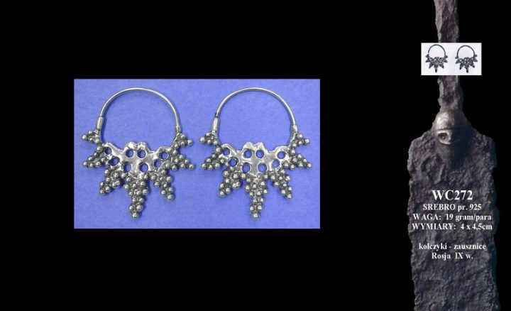 Viking earrings, Russia, 9th c. WC272