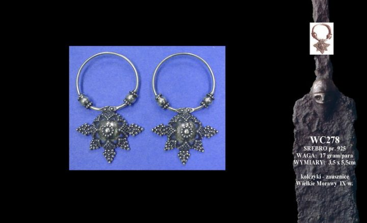 Earrings, Great Moravia, 9th c. WC278