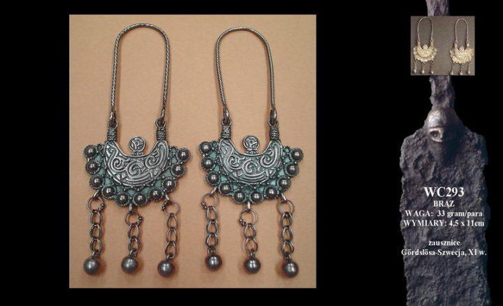 Viking earrings, Gordslosa, Sweden, 11th c. WC293B