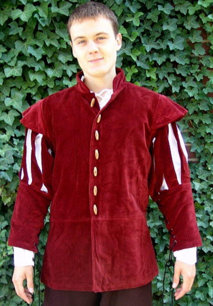 Mittelalter Jacke Rot